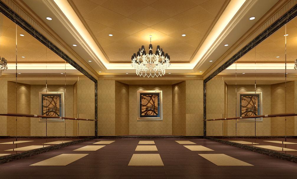 无锡舞蹈培训机构装修设计 无锡舞蹈室设计装修高清图片