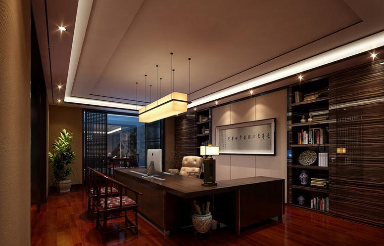 无锡办公室装修的家私布置设计,接待空间的沙发、茶几应以简练、舒适、大气为主。 领导办公室附带一个卧室:简简单单的单人床,再配上电视、音响及必要的日常生活用品。作为领导,工作时间肯定是不定的,所以无论是中午午休还是深夜加班,这样的休息空间一定对领导恢复精力帮助很大。