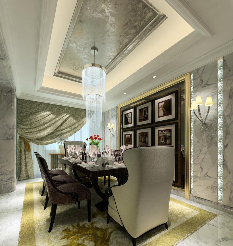 无锡餐厅饭店墙面装饰设计 餐厅特色装修设计