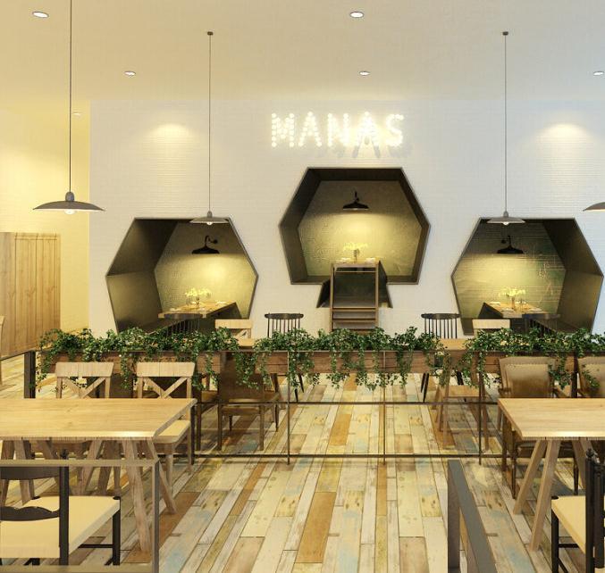 无锡鲜花主题咖啡馆装修设计