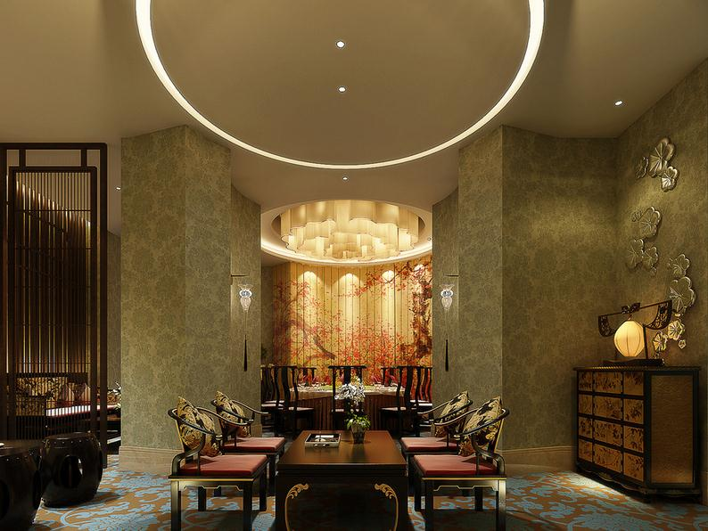 装修百科            中餐厅包间设计        中餐包房延续餐厅设计空