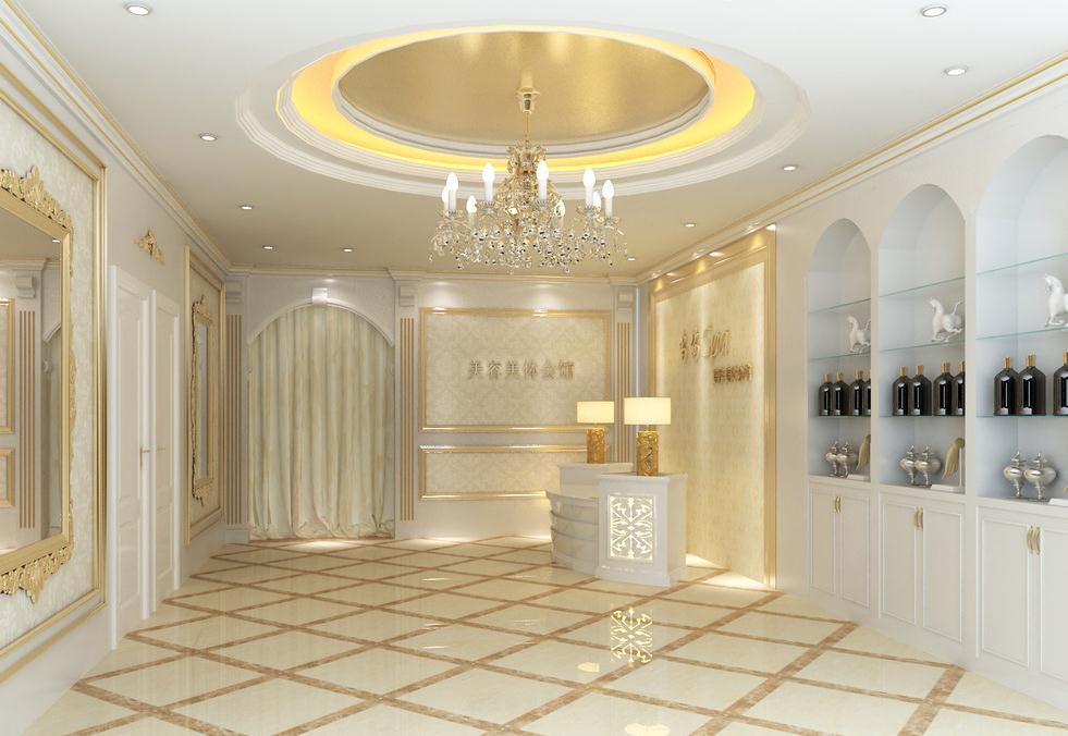 美容院的店面广告很广,招牌,名称,装潢,橱窗设计以及商品陈列图片