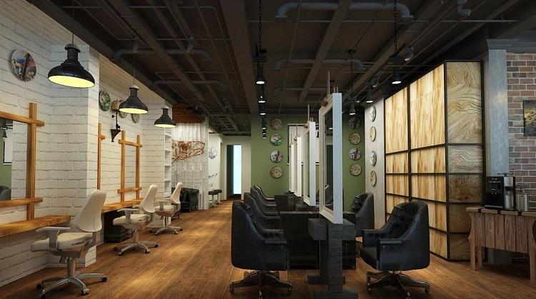 无锡复古美发店设计图片