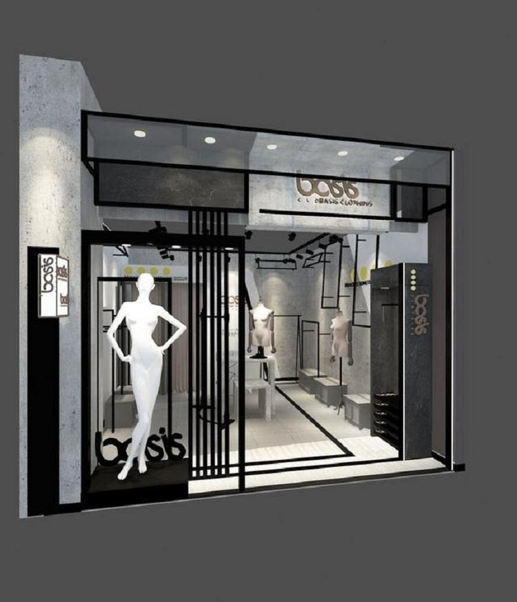 无锡服装店店铺门头设计