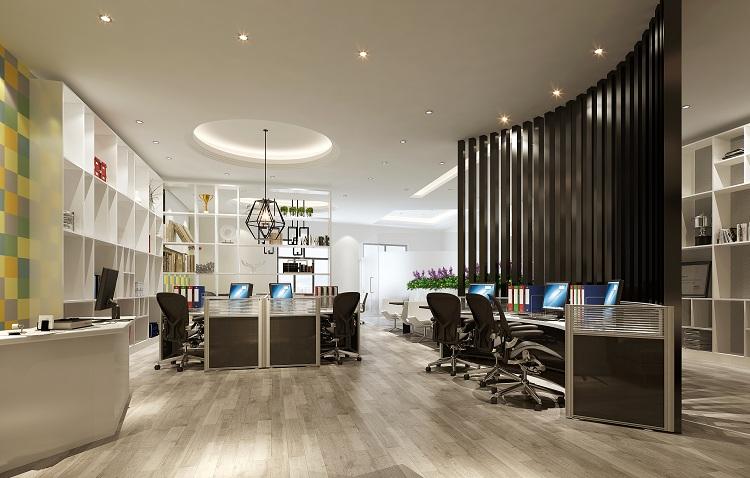 无锡办公室装修效果图,办公室设计是办公室装修工程实施的首要步骤,也是整个工程质量的决定性因素。因而,一个办公室装修的效果如何,很大程度上在设计图纸上就能看得出来。区别于普通的办公室装修设计,并非是对办公空间的简单规划和布局。精品办公室设计着重于量身定做,就是针对不同企业的行业性质及发展理念等等,做出独特个性的办公室装修。   办公室装修的细节问题分析其实是非常多的,包括地板胶的选择与使用,线槽的开挖与排放,墙面装修涂刷以及装饰材料,空间规划等等,说上三天三夜也说不完。那么这里就给大家大致挑选了四个影